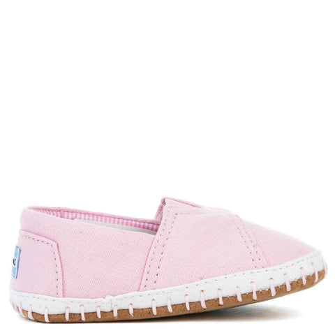 Tiny Toms Crib Alpargata Pink Canvas Flat