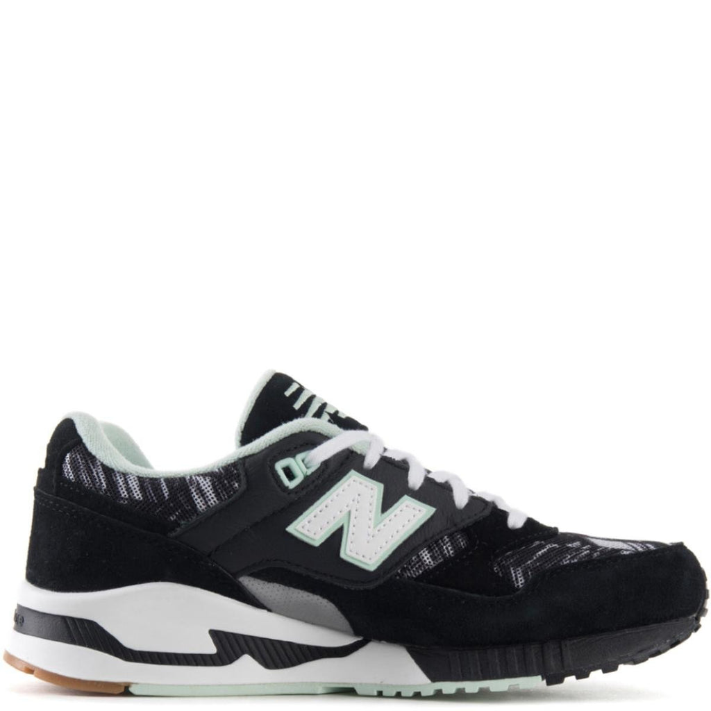 6291ac34d55b ... New Balance for Women  530 Summer Utility Black White and Seafoam  Sneakers ...