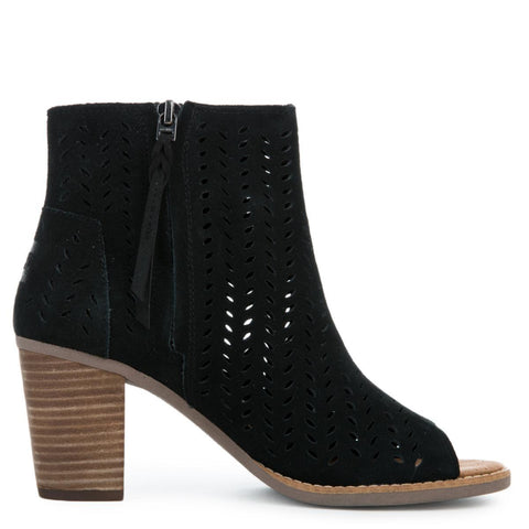 Toms Majorca Black Women's Booties