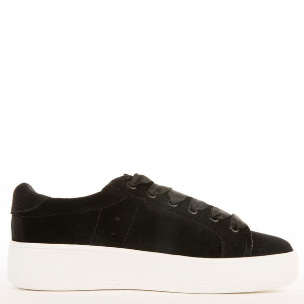 Steve Madden for Women: Bertie-V Black Platform Sneakers