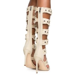 Cape Robbin Alza-66 Women's Nude Gladiator High Heel