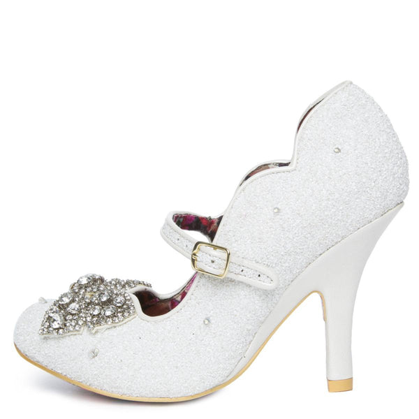 Women's Shimmer White Light Up High Heel