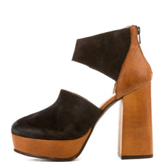 Free People for Women: Luxor Tan Combo Platform Heels