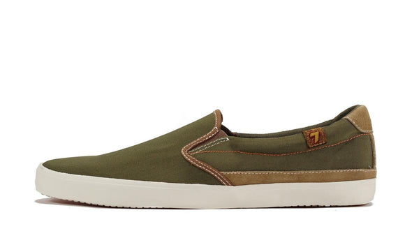Seven for All Mankind for Men: Cal Army Green Slip on Sneaker