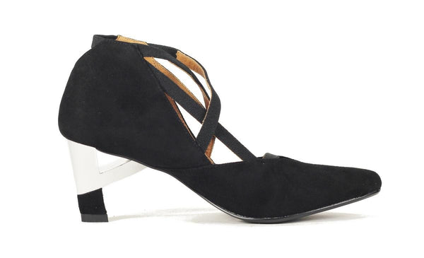 United Nude for Women: Teka Bootie Mid Black Suede Heel