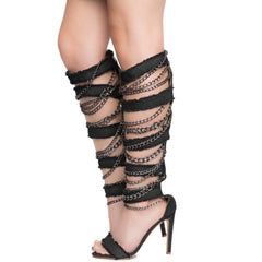 Cape Robbin Alza-77 Women's Black High Heel