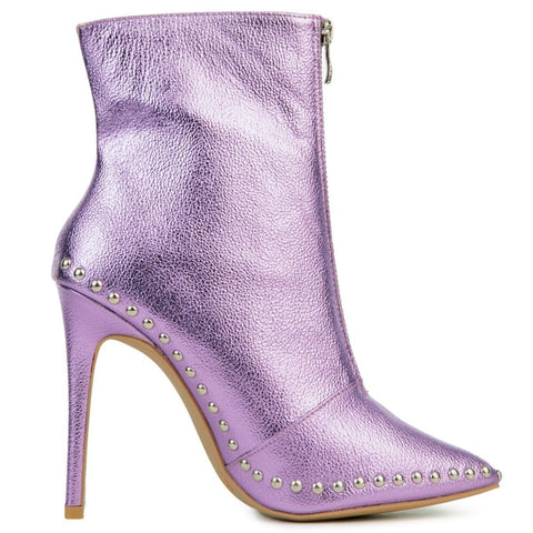 Women's Giselle Purple Heeled Booties