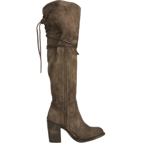 Freebird by Steven for Women: Brock Grey Suede Boots