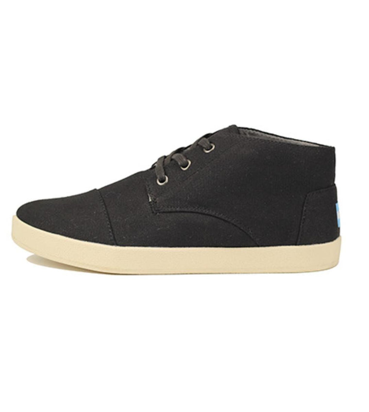 Toms for Men: Paseo Mid Black Canvas