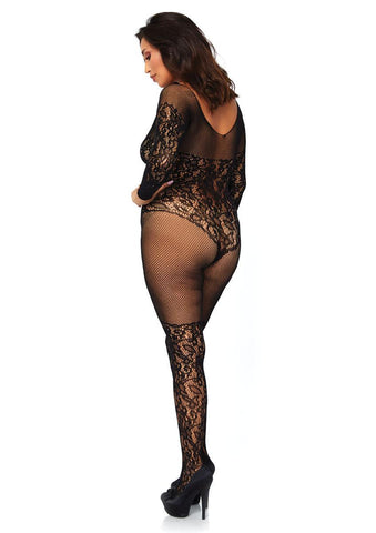Women's Vine lace and Net Long Sleeved