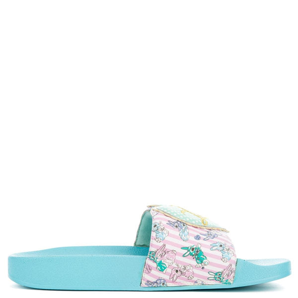 Women's My True Love Blue Slip-On Sandal