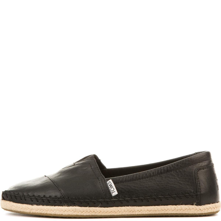 Toms for Men: Classics Fill-Grain Leather Flats
