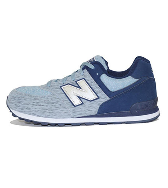 New Balance for Grade School: 574 Sweatshirt Navy Sneakers