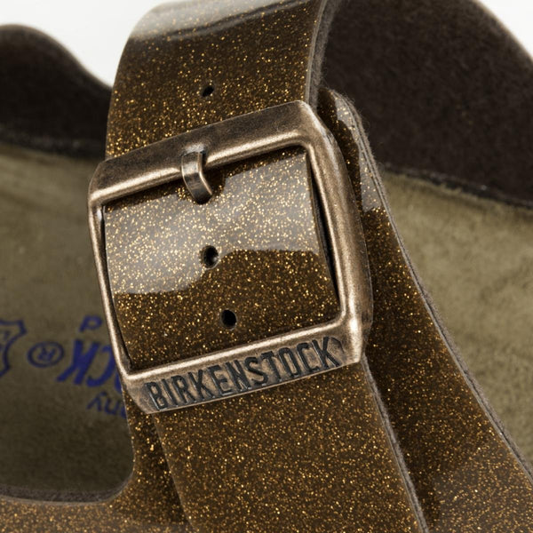 Birkenstock for Women: Narrow Arizona soft Footbed Galaxy Bronze Sandals