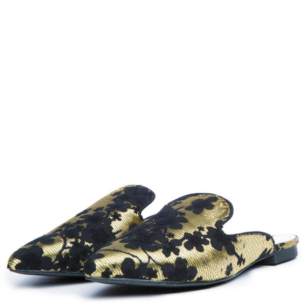 Cape Robbin Cell-3 Women's Gold Mules