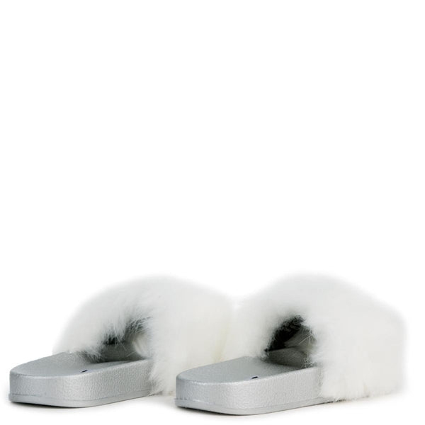 Cape Robbin Moira-5 Women's White Slides