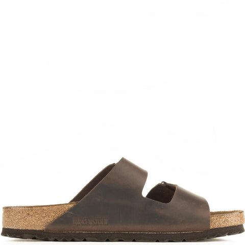 Birkenstock Unisex: Arizona Waxy Leather Habana Sandal