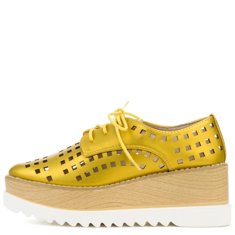 Cape Robbin Fara-3 Women's Yellow Oxford