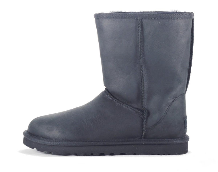 UGG Australia for Women: Classic Short Leather Black Boot