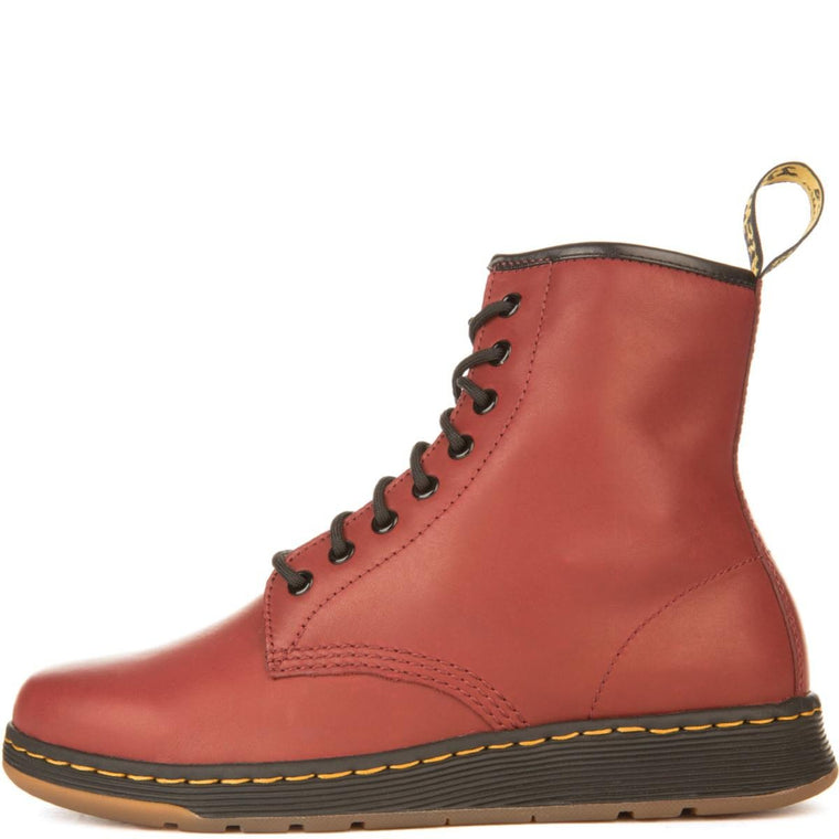 Dr. Martens Unisex: Newton Cherry Red Boots
