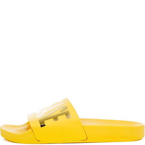 Women's Beach Please Slides in Yellow