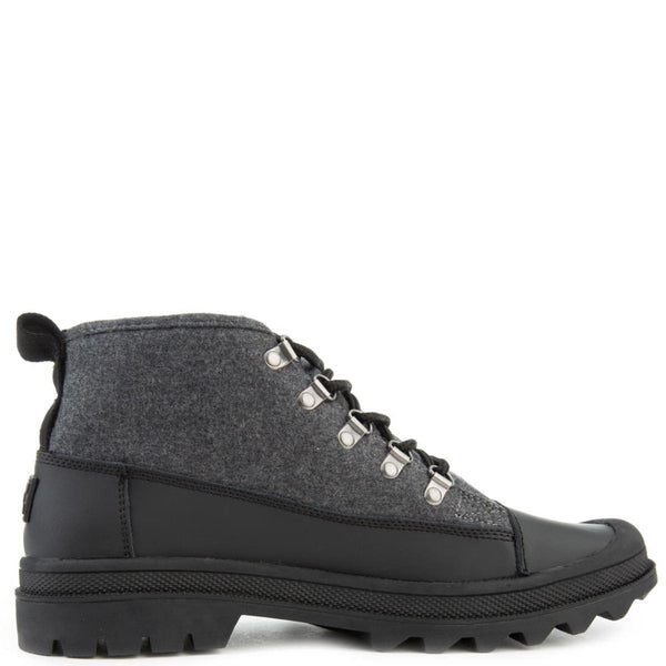 Cordova Boots in Black Wool w/ Leather