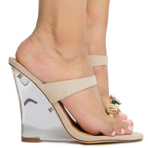 Women's Jewel Toe Ring Wedge