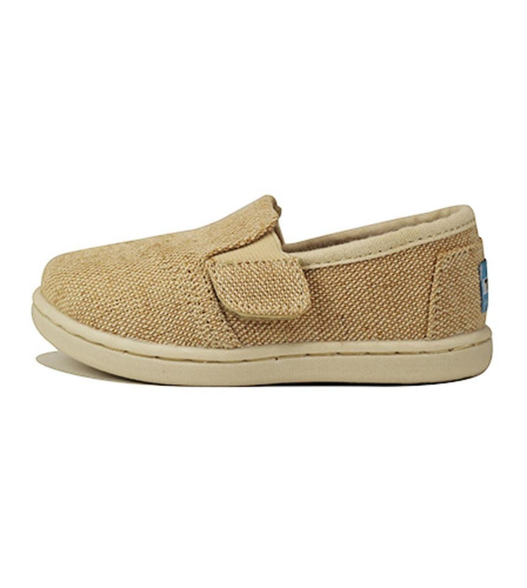 Tiny Toms: Avalon Sneaker Natural Burlap