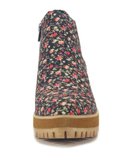 Women's Wolf Floral Ankle Booties
