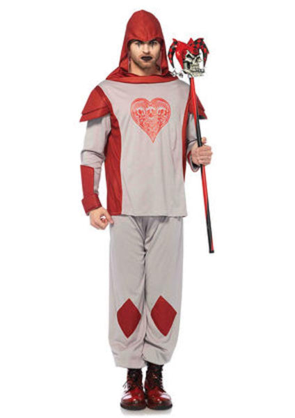2PC.Card Guard,hooded shirt w/card suit and pants in RED