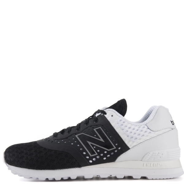 04cd06a6d08 New Balance Unisex: 574 Re-Engineered Breathe Black Sneaker