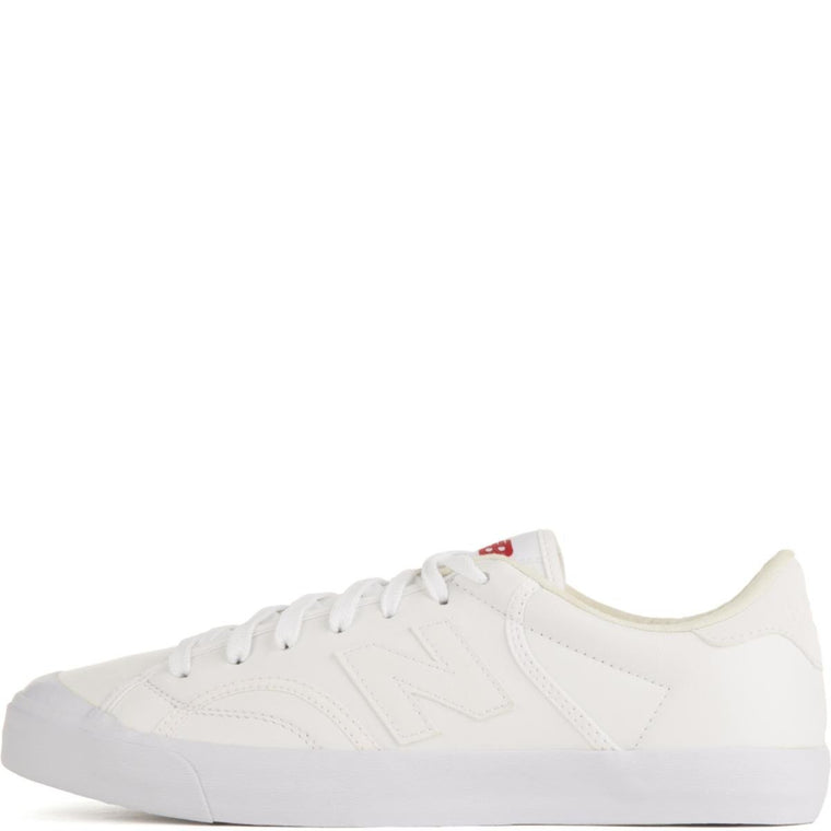 New Balance Unisex: ProCourt White Leather Sneakers