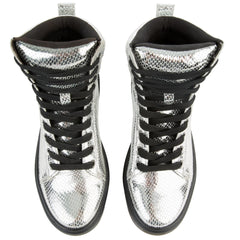 Dr Martens for Women: Mix PC Silver Boots