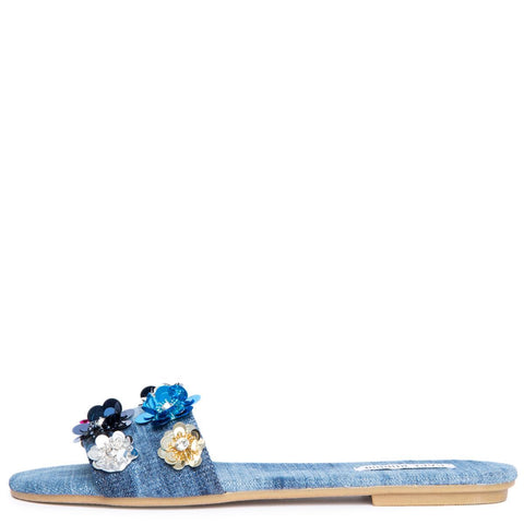 Cape Robbin Sadie-8 Women's Denim Sandal