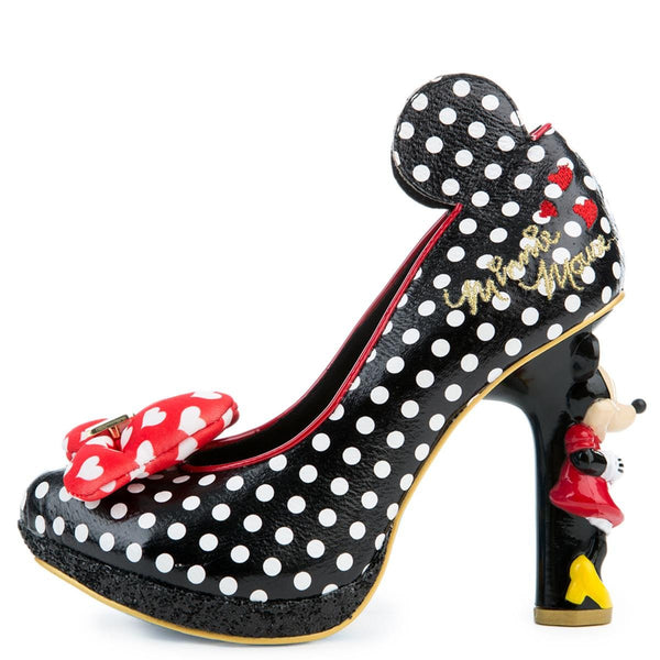 Irregular Choice Mickey Mouse & Friends Collection Women's Oh My! Black High Heel