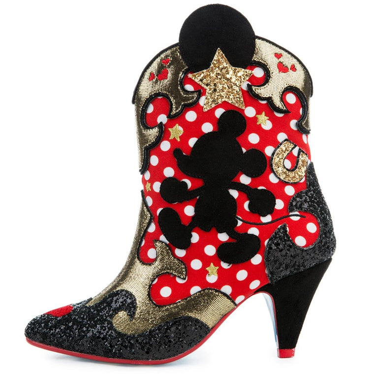 Irregular Choice Mickey Mouse & Friends Collection Women's Hot Diggety Red Boot