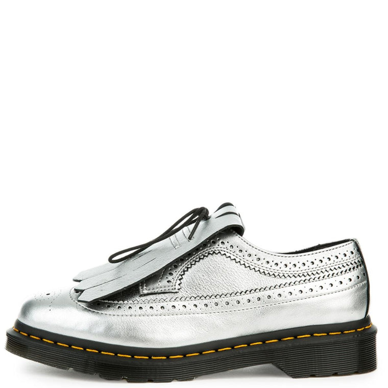 Women's 3989 Kiltie Metallic Silver Oxford