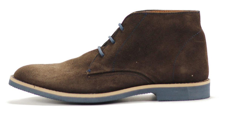 JD FISK for Men: Viego Brown Suede Boots