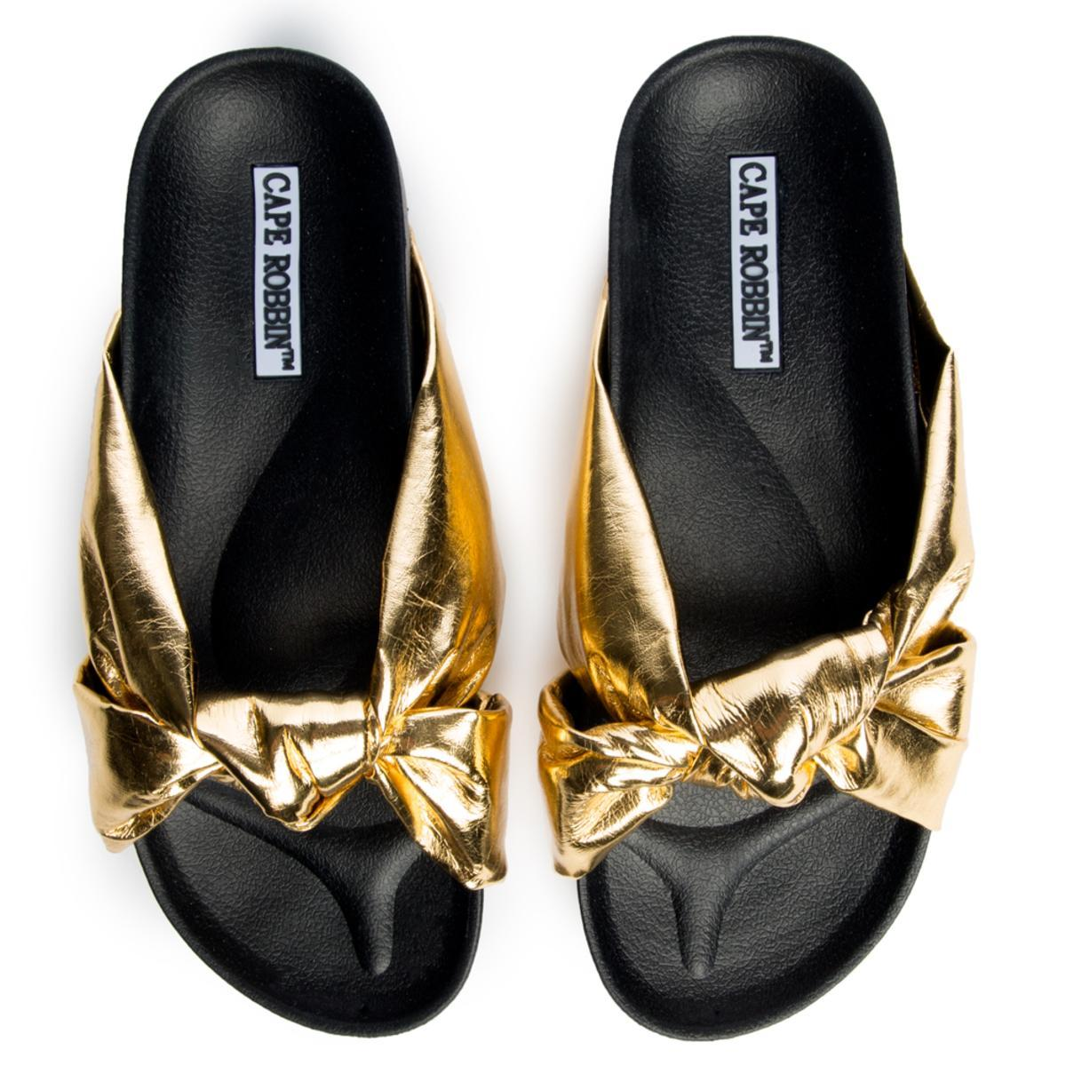 Cape Robbin Moira-35 Women's Gold Slide
