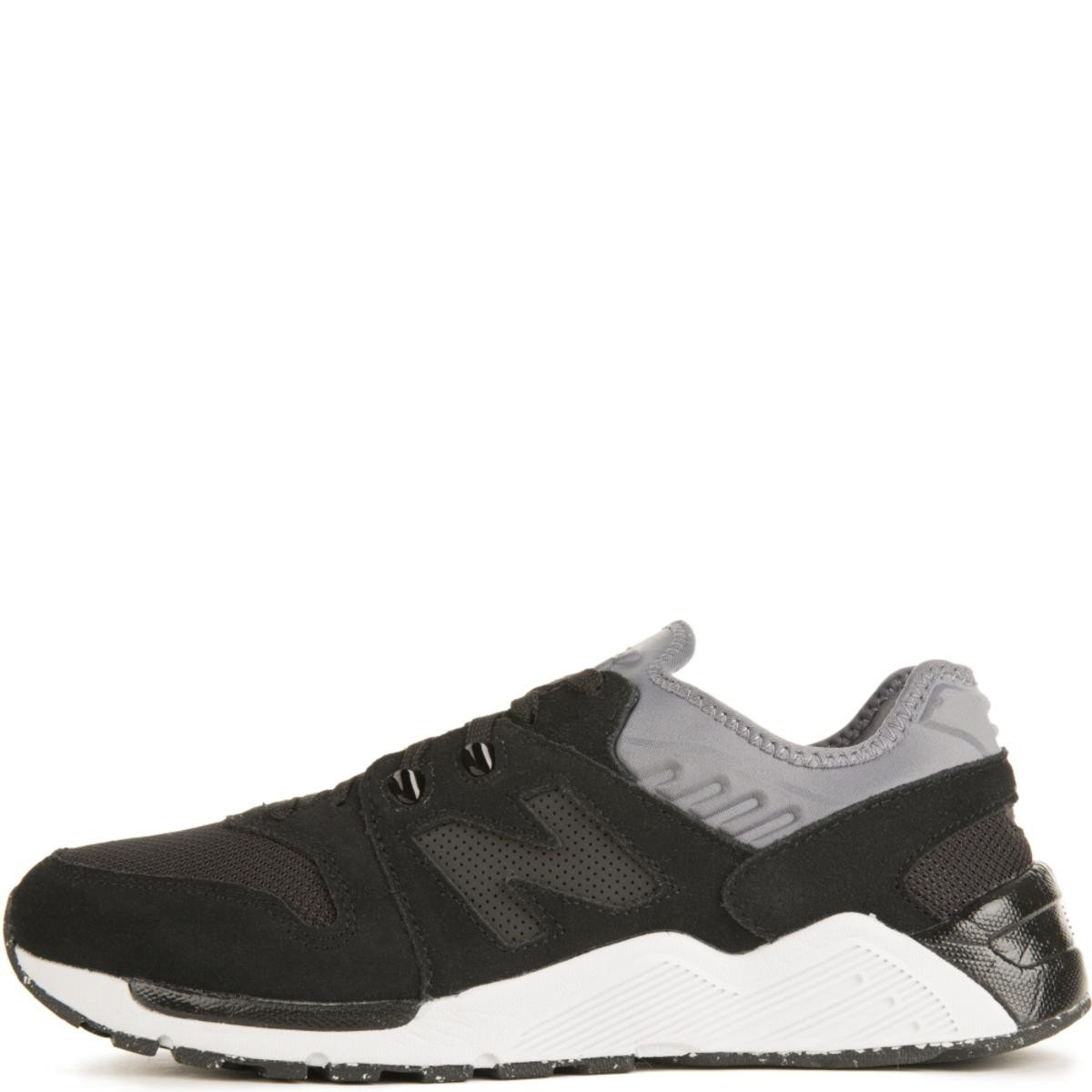 New Balance for Men: 009 Suede Black/Gunmetal Sneakers