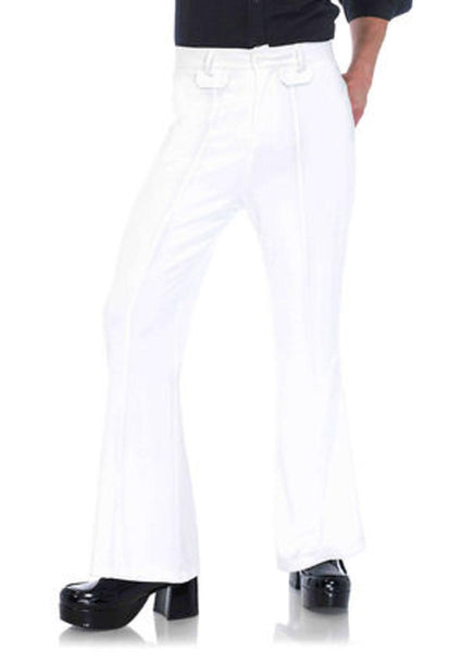 Men's bell bottom pants in WHITE