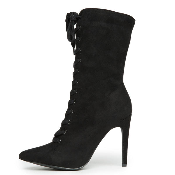Cape Robbin Gigi-11 Women's Black Heeled Booties