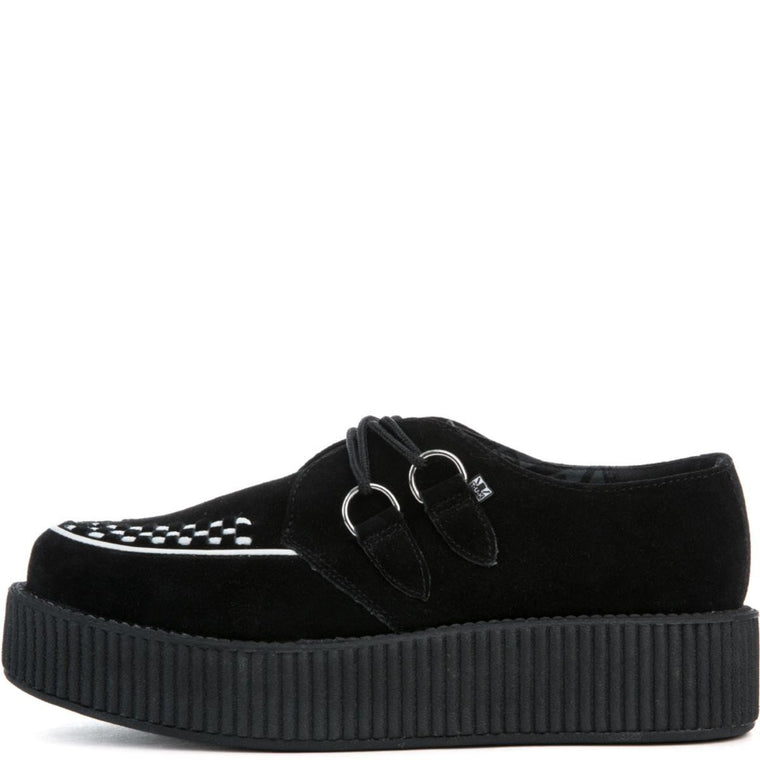Women's Black Suede/White Viva Mondo Creeper
