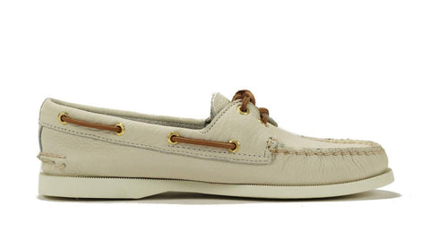 Sperry Topsider for Women: A/O Ivory Boat Shoe