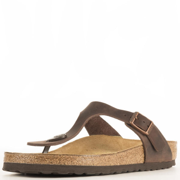 Birkenstock for Women: Gizeh Waxy Leather Habana Sandal