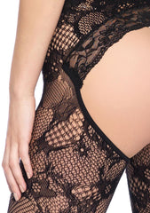 Women's Lace Keyhole Bodystocking