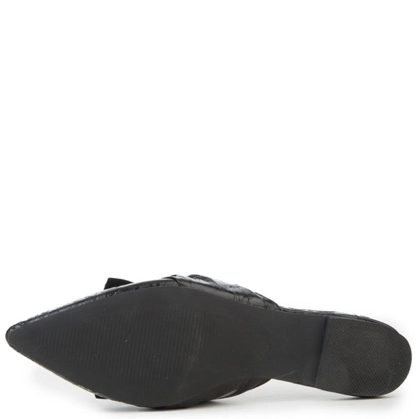 Cape Robbin Fine-10 Women's Black Mule