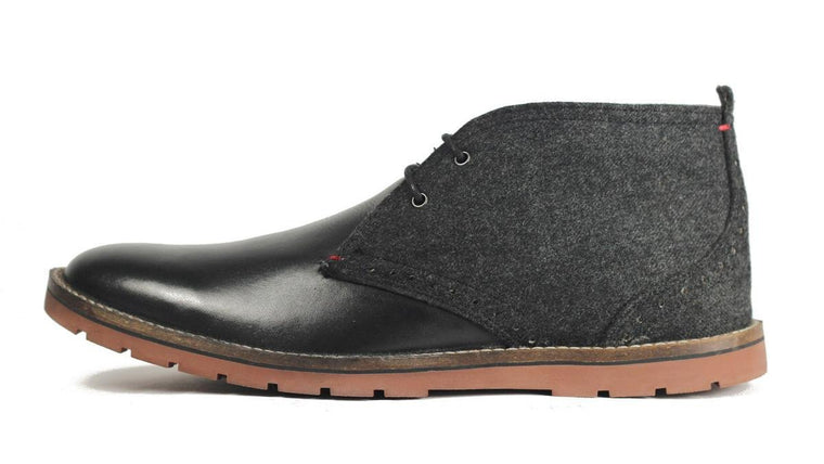 Ben Sherman for Men: Oliver Chukka Boot Black Wool