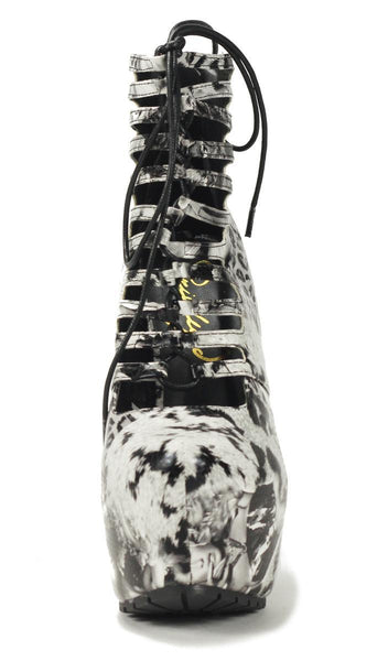 Privileged Shoes by J.C. Dossier: Denmark Multi Black White High Heels