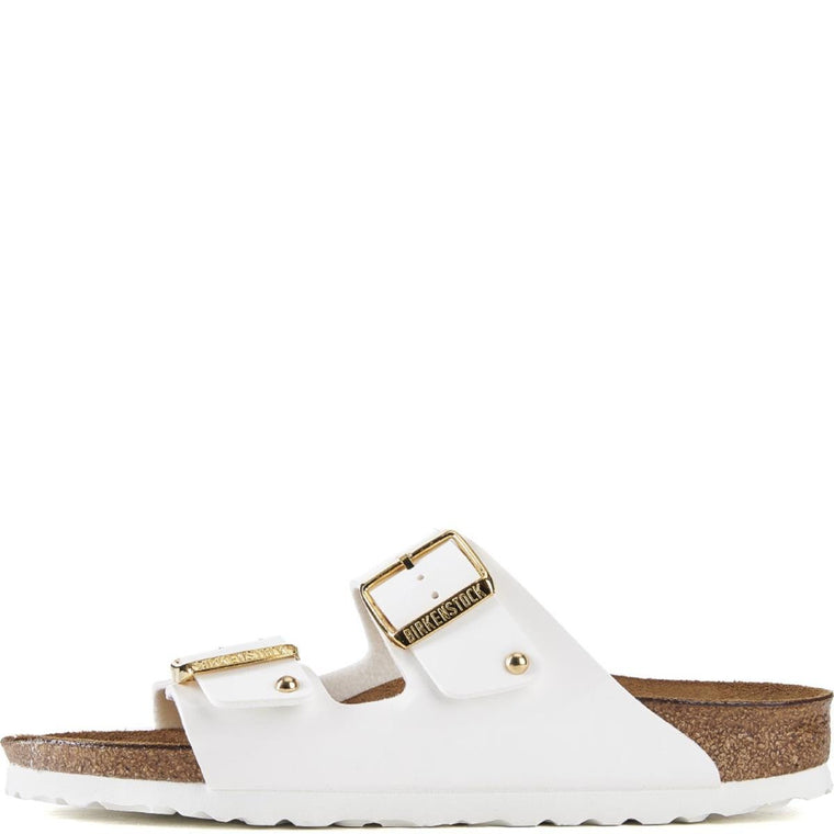Birkenstock for Women: Arizona White Patent Birko-Flor